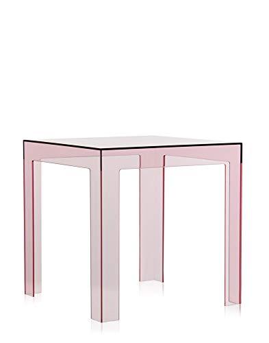 Kartell Jolly, Table Basse, Polycarbonate Transparent ou teintè dans la Masse, Rose