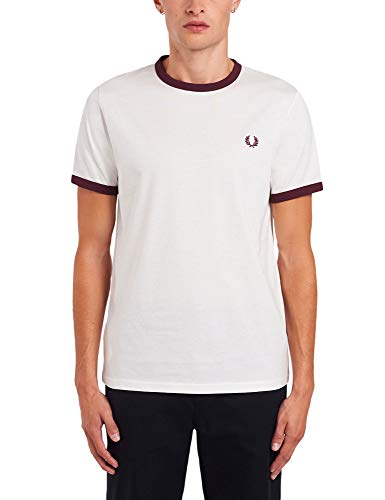 Fred Perry T-Shirt M3519 C22 Snow White Gr. L, weiß