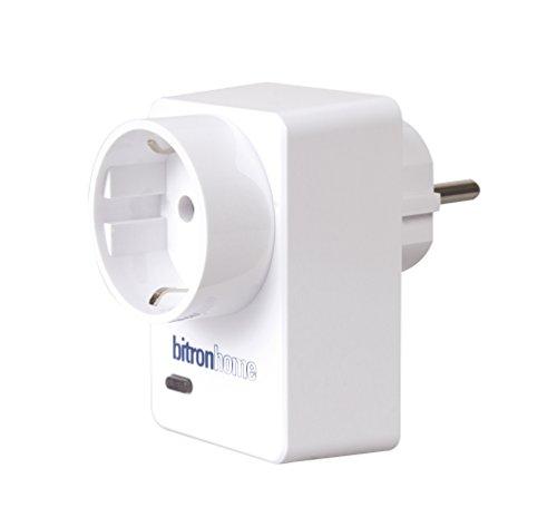 Bitron 902010/128 Weiß intelligente Steckdose (Innenbereich, weiß, TÜV CE RoHS, 110-230, 50/60, 16 A)