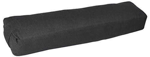 YogaAccessories Pranayama Cotton Yoga Bolster - Best for Poses and Stretches