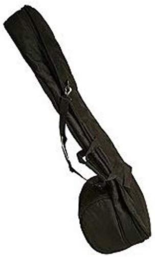 SITAR Tasche aus Nylon für einzelne Tumba mit Reißverschlusstasche und Schaumstoffpolsterung, Schwarz
