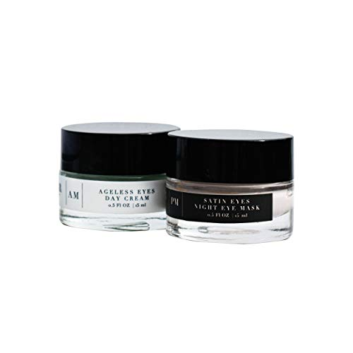Averr Aglow Perfectly Fresh Eyes Kit, Hydration Moisturized Face Skin Creams, Day & Night Skincare, Natural Anti-Wrinkle & Fine Lines, Under Eye Dark Circles & Puffiness, 2PC