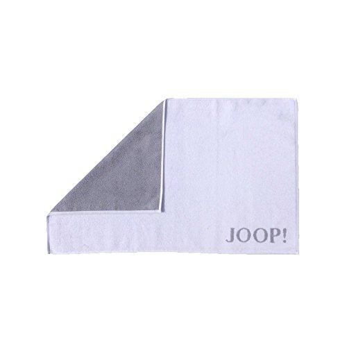 Joop! Badmatte Classic 1600 | 67 weiß/Silber - 50 x 80