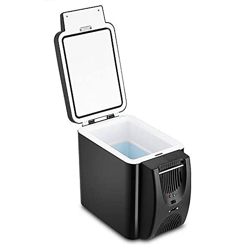 Refrigerador eléctrico portátil Icebox Travel Refrigerador, 12 V refrigerador congelador calentador 6 l mini refrigerador y calentador