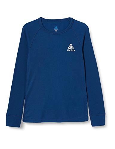 Odlo Kinder BL TOP Crew Neck l/s Active WARM Kids Unterhemd, Estate Blue, 128