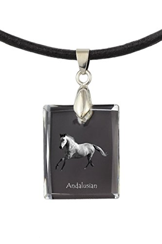 ArtDog Ltd. Andalusischen, Pferd-Kristall-Halskette, Anhänger, außergewöhnliches Geschenk