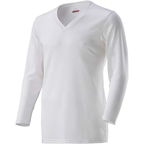 [Mizuno] アンダーウェア ブレスサーモ Vネック長袖シャツ C2JA8610 メンズ オフホワイト 日本 L (日本サイズL相当)
