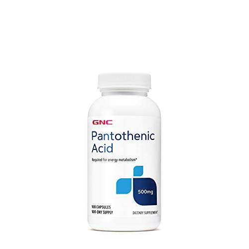 GNC Pantothenic Acid 500mg, 100 Capsules, Supports in Energy Metabolism