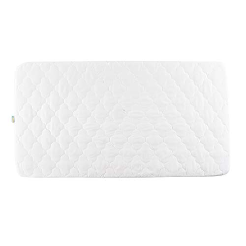 Bamuho Pack N Play Waterproof Fitted Crib Mattress Cover-52' x 28' Soft Breathable Mattress Pad & Protector for Stains Proof