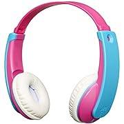 JVC HA-KD9BT-P-E Bluetooth Kinderkopfhörer mit Lautstärkebegrenzung, Pink, Einheitsgröße