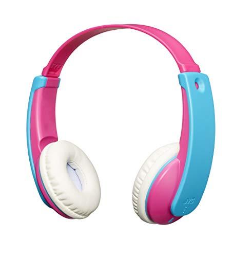 JVC HA-KD9BT TINYPHONES Auriculares Inalámbricos para Niño y Niña. Cascos con Diadema Ajustable, Conexión Bluetooth y Limitador de Sonido. hasta 12 Horas de Batería. Color Rosa y Azul