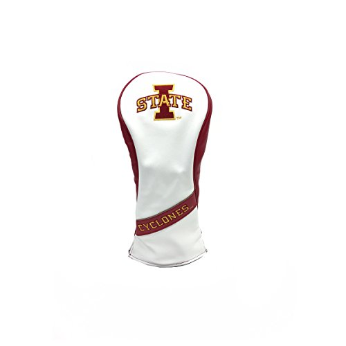 PRG Americas NCAA Iowa State Cyclones Leatherette Fairway Wood Cover, White
