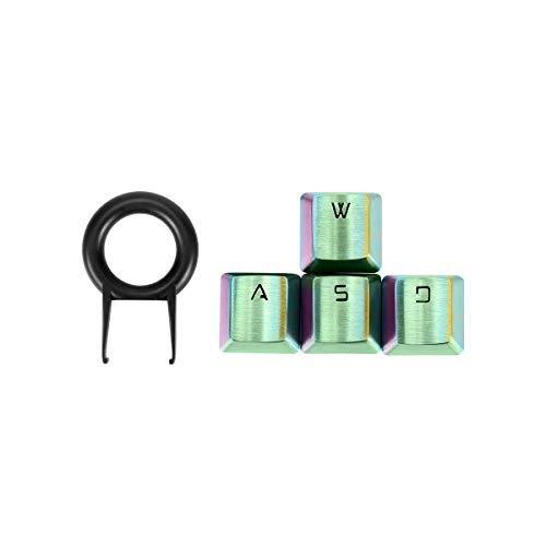 Fitlink FPS & MOBA Gaming Keycaps, Edelstahl Metall Keycap mit Key Puller für mechanische Tastatur Cherry MX Switch mehrfarbig regenbogenfarben