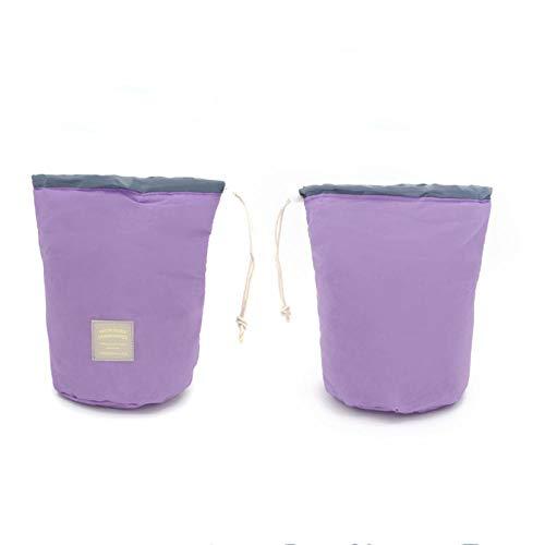 Pliable Grande Capacité Portable Trousse de Toilette Multifonction Sac de Toilette étanche pour Salle de Bain Voyage ImperméableSac à cosmétiques Cylindre imperméable - Violet