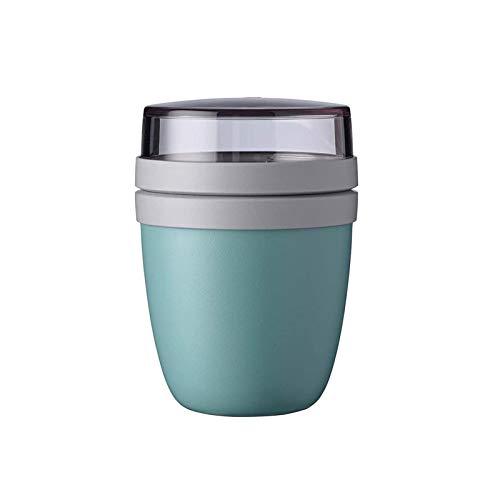 700 Ml Praktischer Müslibecher(500 Ml Praktischer Müslibecher +200ml Tasse Deckel Schüssel), Joghurtbecher, to Go Becher – Geeignet Für Tiefkühler, Mikrowelle Und Spülmaschine