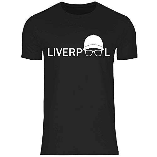 wowshirt Herren T-Shirt Jurgen Klopp Brille Silhouette Liverpool, Größe:5XL, Farbe:Black