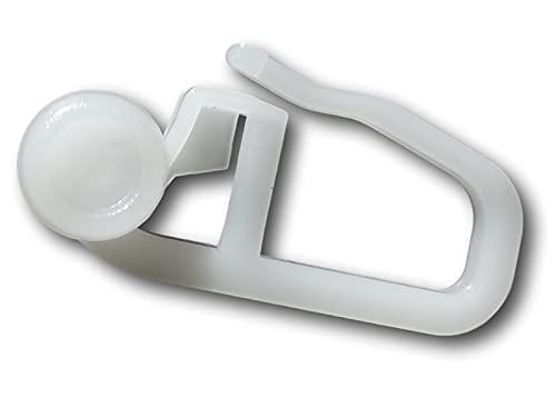 GARIMO Gardinenröllchen -gleiter Innenlauf mit Faltenhaken 8mm Rolle 100 Stück