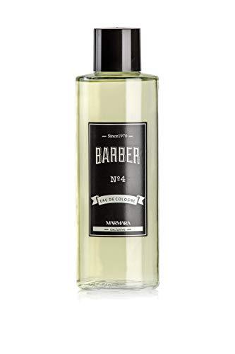 BARBER MARMARA Eau de Cologne Herren 500ml No.4 im Glas Flacon After Shave Men Duftwasser Rasierwasser Männer, Erfrischt kühlt langanhaltender Duft Herren Desinfizierend 70% Alkohol