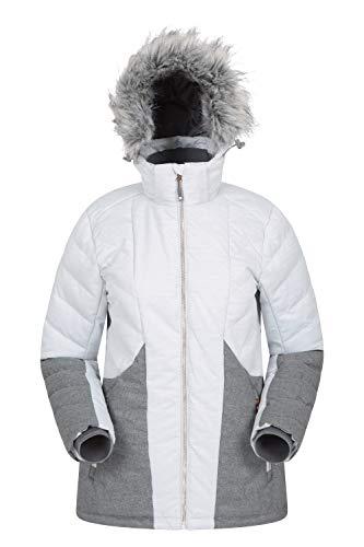 Mountain Warehouse Snowflake Womens Padded Ski Jacket - for Winter Light Grey 4