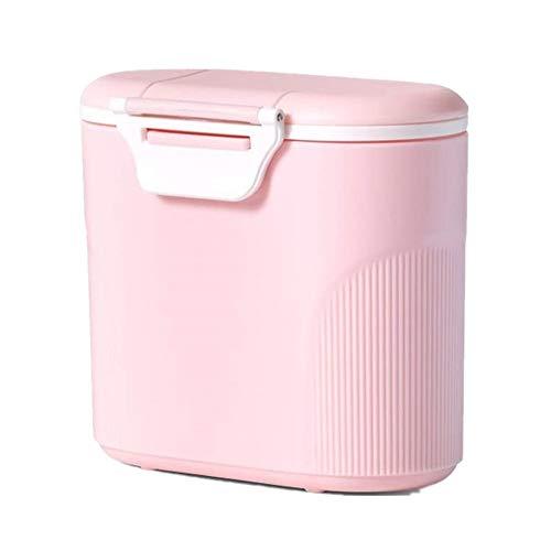 VOARGE Contenedor de viaje para leche en polvo con pala, recipiente portátil para leche en polvo, recipiente para leche en polvo con humectante, 600 ml (rosa)