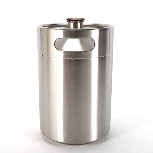 Beer Keg,5L Stainless Steel Beer Barrel Holds Beer Homebrew Growler Big Beer Keg Bottle Growler Tool for Wine Brew Pot