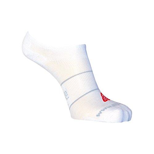 Moose 3 Paar SUN Sneaker, Socken, Füßlinge, Kurzsocken, mit Silberfaser S (38-39) Weiss