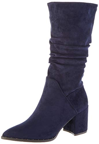 XTI 35116, Botas Slouch para Mujer, Azul (Navy Navy), 38 EU