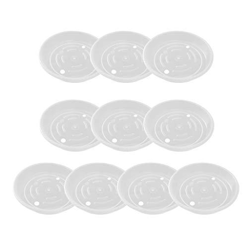 Baoblaze 10x Blumentopfuntersetzer Wasser-Wanne Gärtner für Gitterplatten, Töpfe, Hydroponic, Kapillar-Systeme, wasserdichter Stabiler Kunststoff-Kasten