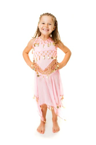 Costume de Danse Orientale Enfant 4-10ans Jupe + Top 2 Pieces Danse du Ventre