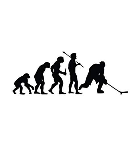 Fahrzeug-Autoaufkleber Sport Mode Hockey Evolution Vinyl Auto Aufkleber 15,2 CM * 5,6 CM 2 Stück
