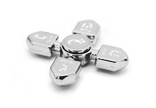 Hanukkah Dreidel Fidget Spinner Glossy Silver Metallic, Chanukkah Toys