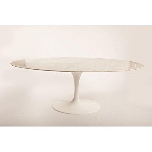 Mesa ovalada TULIP Eero Saarinen - 235x121, tablero de mesa en mármol de Carrara. MADE IN ITALY