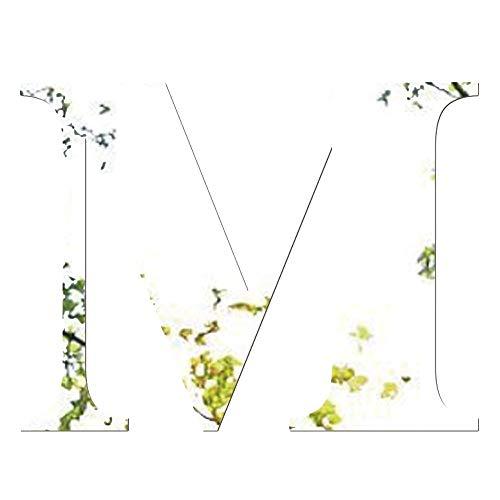 Janly Clearance Sale Adhesivo decorativo para pared de espejo, 26 letras, para decoración del hogar, acrílico, color plateado M, decoración del hogar para el día de Pascua (M)