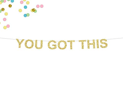 Tr674gs You Got This Glitter Banner Cubicle Decor Home Office Decor Wall Art Office Desk Accessories Wall Decor Glitter Banner Banner Decorations Supplies Celebration Party Banner
