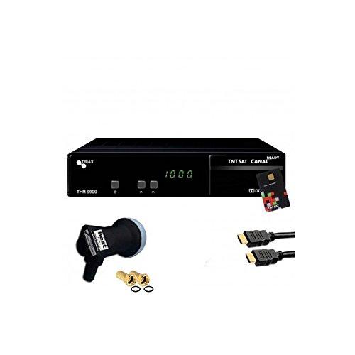 Triax–Satelliten Receiver Triax THR 9900HD + Karte TNTSAT + HDMI + LNB Single Best HG101Schwerer–thr9900hg101