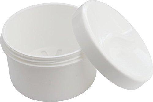 Medi-Inn Zahnprothesenbecher Zahnbehälter Zahnspangendose mit Sieb und Schraubdeckel weiß