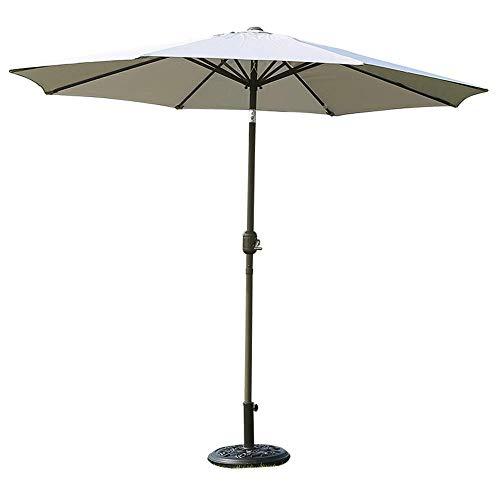 HYLX El Paraguas al Aire Libre del Patio del Paraguas de los 2.7m, Tela de poliéster de 8 Costillas 180G se Puede Girar 75 & deg;para Fortalecer la sombrilla Impermeable, sombrilla de Playa somb
