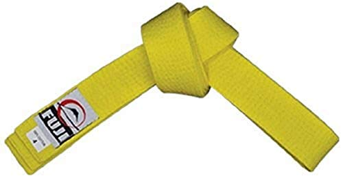 FUJI – Sports Belt, All-Purpose Martial Arts Belt, Judo Belt, Colorful Karate Belt, Durable MMA Belt , Yellow, 3