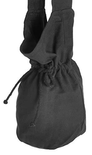 HEMAD Mittelalter Umhänge - Tasche schwarz klein Baumwolle- Mittelalter Kleidung