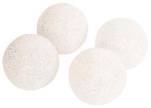 CHICCIE 4er LED Kugel Warm Weiß Ø 10cm Batteriebetrieben Innen & Außen - Kugelleuchte Leuchtkugel Gartenkugel Leuchtball