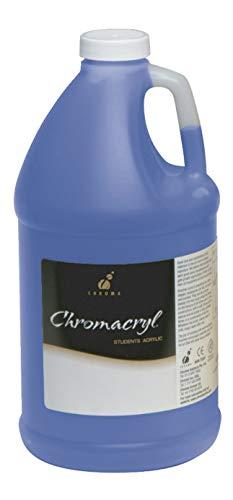 Chromacryl Premium Students Acrylic Paint, 0.5 gal Jug, Primary Cool Blue