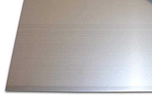 Edelstahlblechzuschnitt - Scherenschnitt - A2 - AISI304 oder A4 - AISI316 - in verschiedenen Grössen (2,0 mm roh A2 - AISI304, 150x150 mm²)