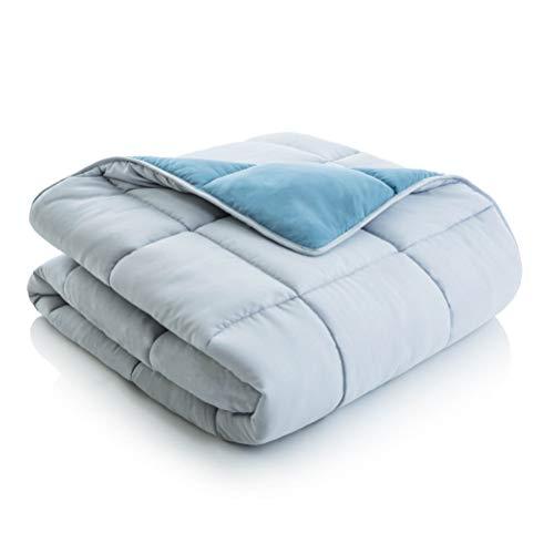 MALOUF Reversible Bag Complete Bedding Set-Queen-Pacific/Ash