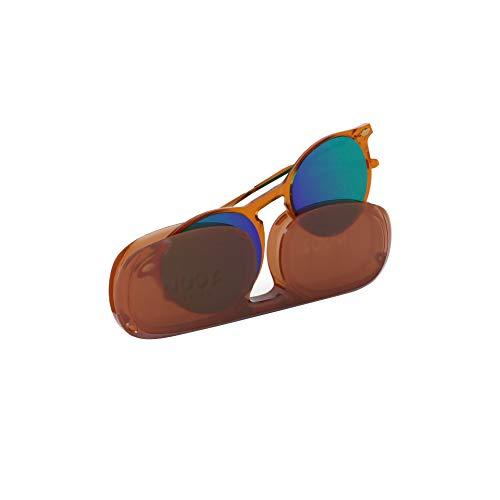 Nooz Gafas de sol polarizadas para hombre y mujer - Protección de categoría 3 - Color marrón - con estuche compacto - Colección CRUZ