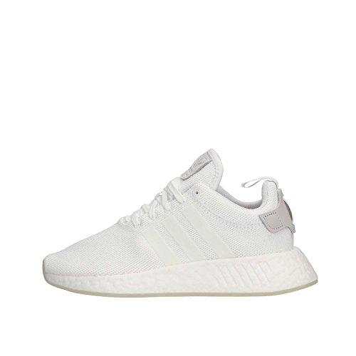 adidas NMD_R2, Scarpe da Ginnastica Uomo, Bianco (Ftwr White/Ftwr White/Ftwr White), 36 2/3 EU