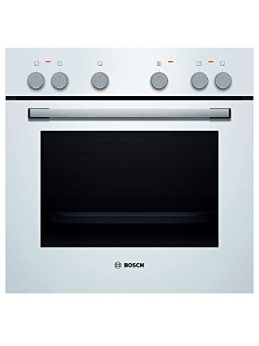 Bosch HND211LW60 - Placa de cocina (empotrada), A, 59,4 cm, color blanco, puerta abatible, placa eléctrica (controlada por fuego), marco perimetral
