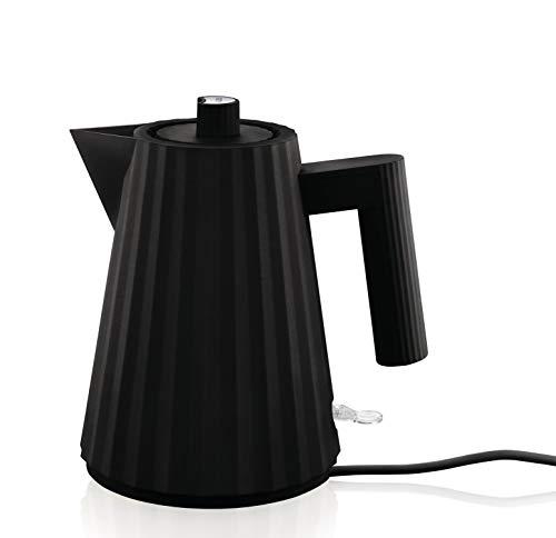 Alessi Plissè MDL06/1 B - Hervido Eléctirco de Diseño en Resina Termoplástica, 100 cl, Negro