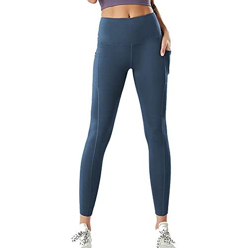 BlooMao Yoga Leggings a Vita Alta Pantaloni da Allenamento Elasticizzati a...