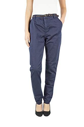 Vero Moda Vmflame NW Chino Pants Noos Pantalones, Azul (Night Sky), XL/L32 (Talla del Fabricante: XL) para Mujer
