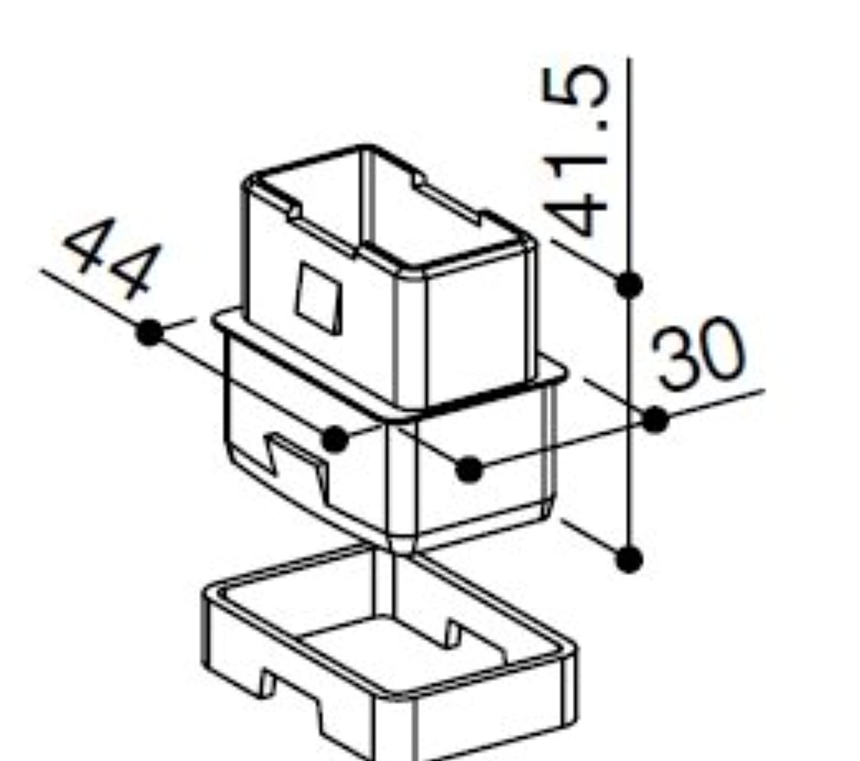 おっとアスペクトクリアアタッチメントソケット(HHK3-3044) [YW]ホワイト